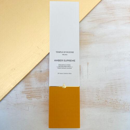 Amber Supreme incense sticks