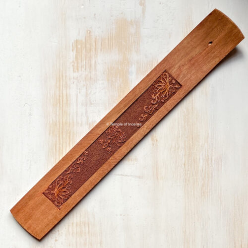 Wooden lotus incense holder