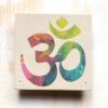 Om sandstone incense stick holder