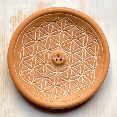 FLOWER OF LIFE INCENSE HOLDER – NATURAL