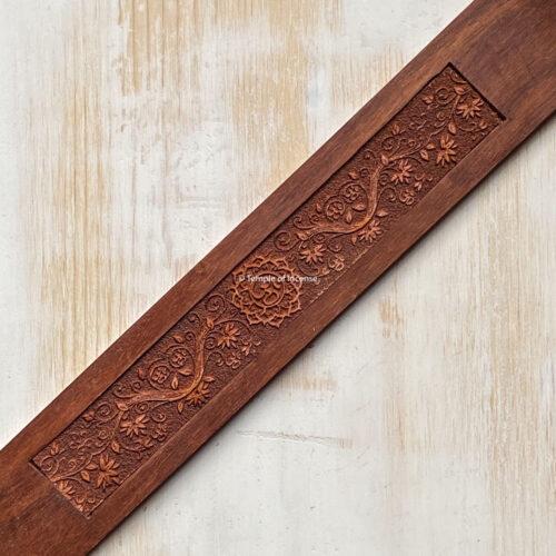 Wooden incense holder Om