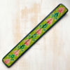 green hand painted wooden incense stick holder