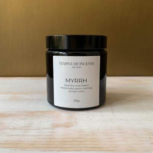myrrh incense resin 50 gram jar