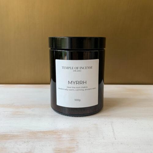 Myrrh incense resin 100gram jar
