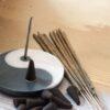 yin yang soapstone marble incense holder