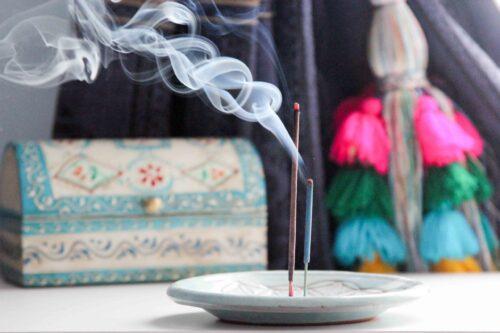 incense holder round flower of life