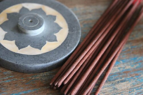 mother of pearl luxury lotus incense holder