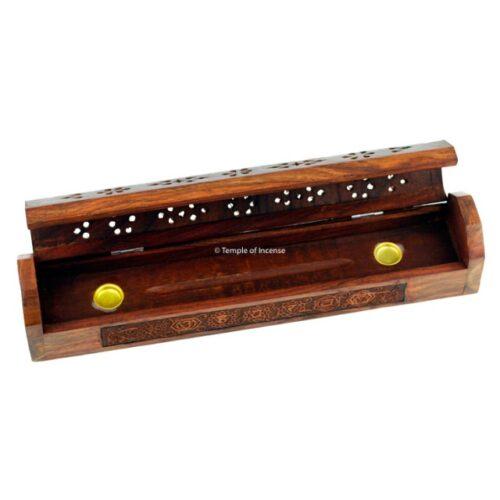 Wooden incense box Chakra