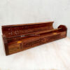 wooden incense holder box tree of life