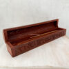 wooden incense holder box floral