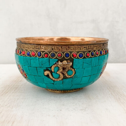 Om copper charcoal burner