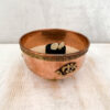 AUM OM copper incense burner bowl