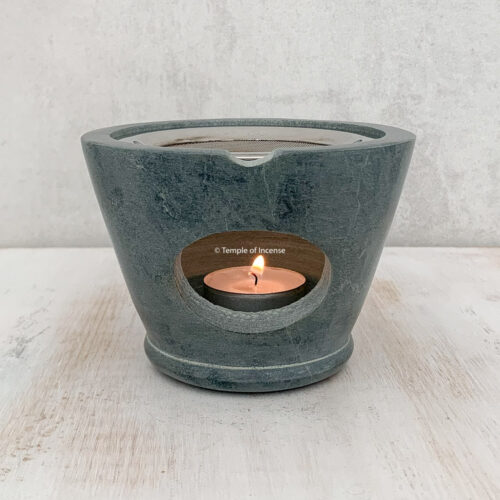 Pavana grey stone incense net burner