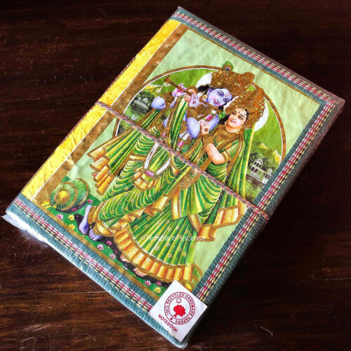 Radha Krishna Green Notebook