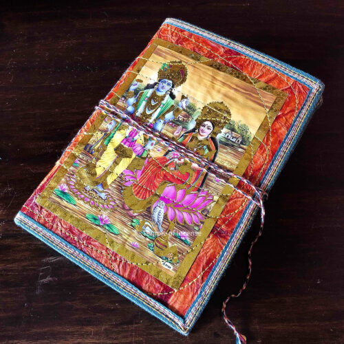 Radha Krishna Orange Notebook