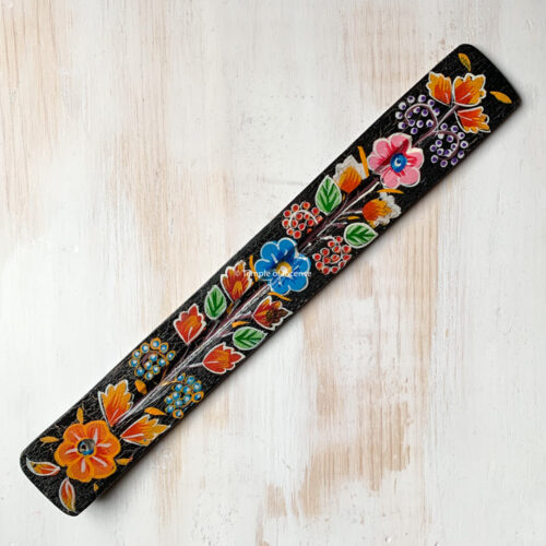 wooden incense stick holder - black