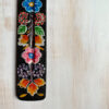 hand-painted wooden incense stick holder - black