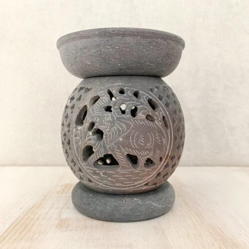 elephant soapstone oil burner Lavender