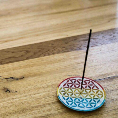 flower of life incense holder