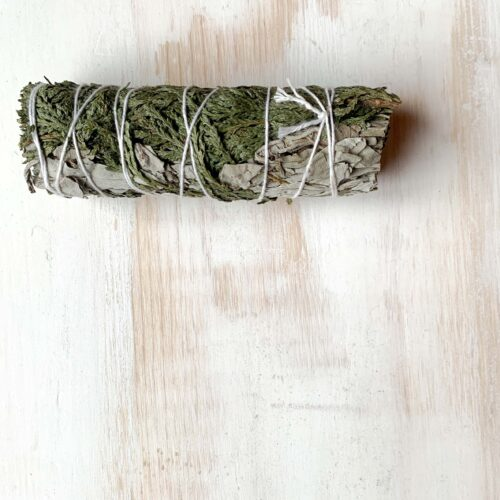 White Sage and Cedar smudge stick bundle