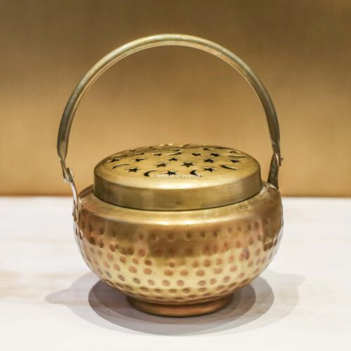 Dhoop Daani brass incense burner
